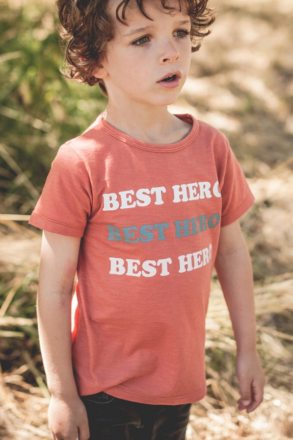 TEE SHIRT AUGUSTE rouille