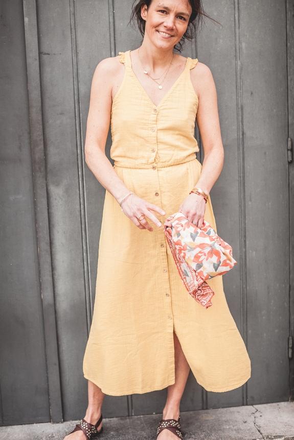 DRESS BLANCHE ocre