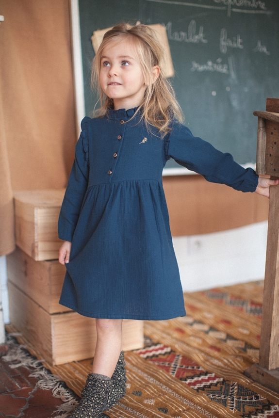 DRESS SUZON indigo blue