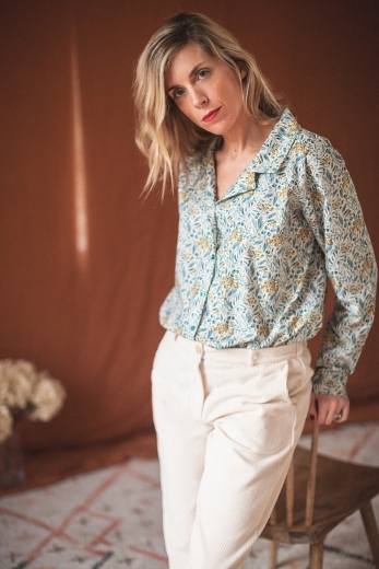 BLOUSE MACHA feuillage ocre