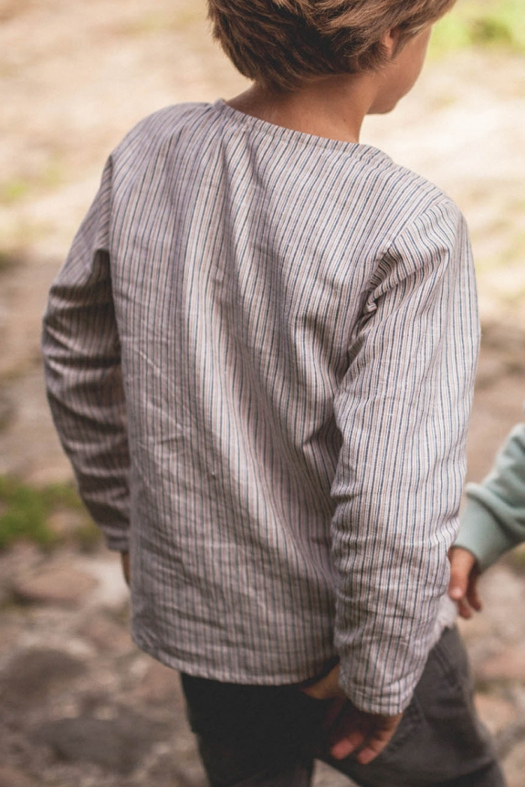 Cotton and linen striped Jacques shirt