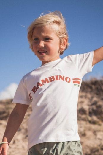T-shirt Auguste Bambino blanc jersey de coton