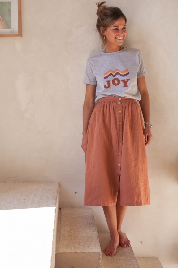 T-shirt Joy woman mixed grey organic cotton jeresey