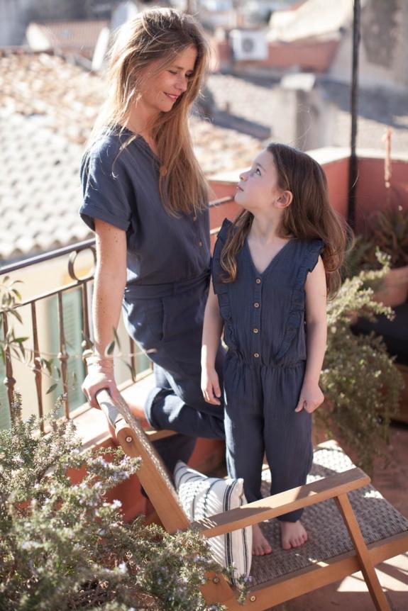 MARLOT PARIS x SMALLABLE Combinaison Toscane bleu carbone