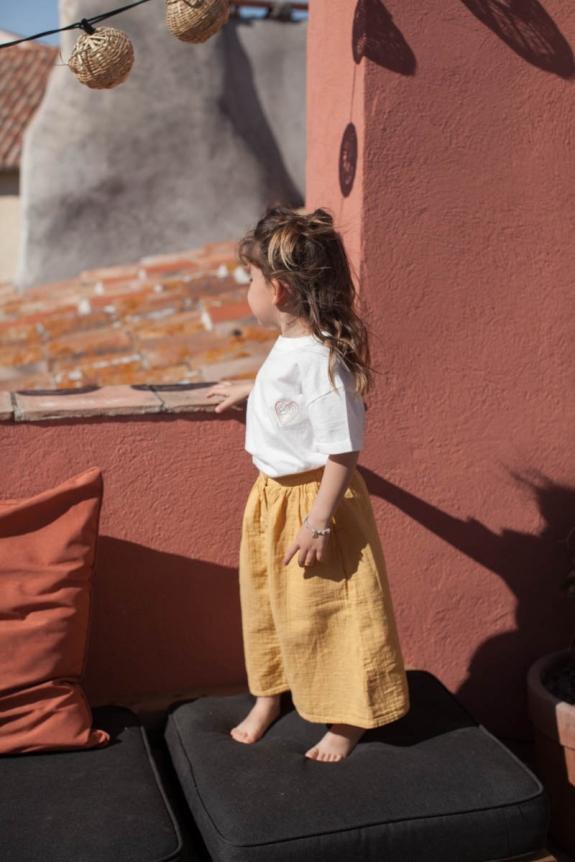 MARLOT PARIS x SMALLABLE Skirt fille Carla ocre