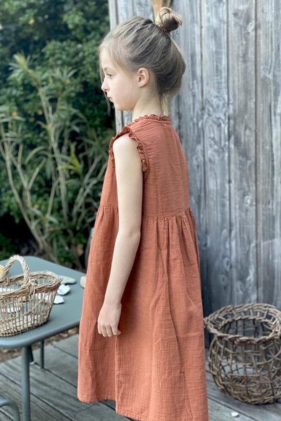 Robe de nuit Wendy toscane gaze de coton