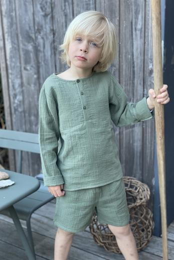 Pyjama Peter Pan vert gaze de coton