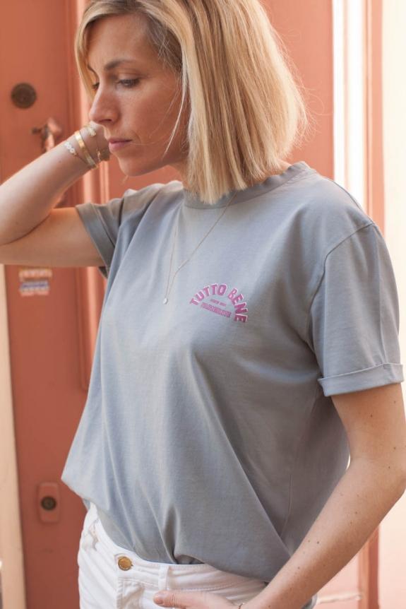 MARLOT PARIS x HORTY & MAHAUT T-shirt Tutto Bene tomette jersey de coton bio