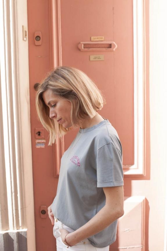 MARLOT PARIS x HORTY & MAHAUT T-shirt Ciao terracotta organic cotton