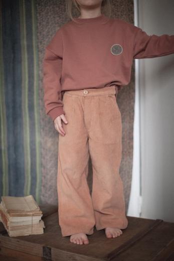 Pantalon Gaby velours bois de rose