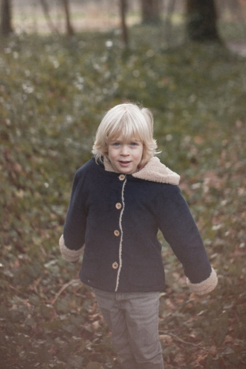 Andrea coat corduroy and faux fur lining Thnavy