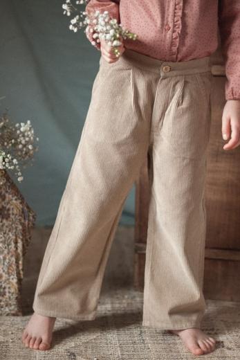 Pantalon Gaby velours biscuit