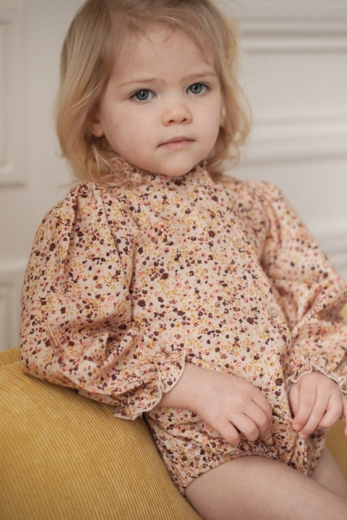 Romper Ysée lily ocre printed cotton