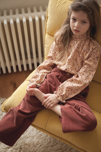 Hortensia blouse in lily ocre cotton