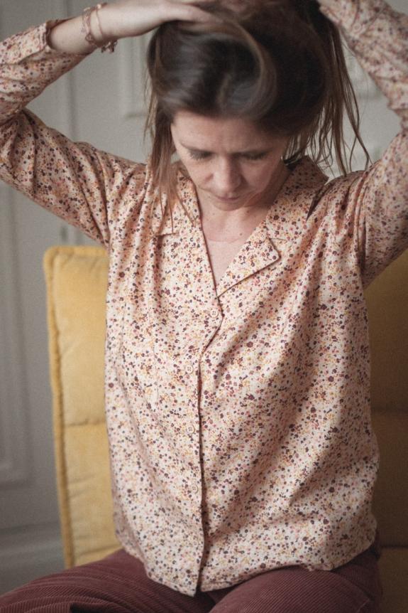 Macha women's lily ocre cotton shirt