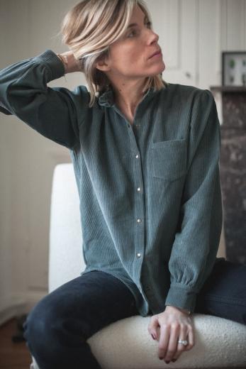 Shirt Tess gray washed denim