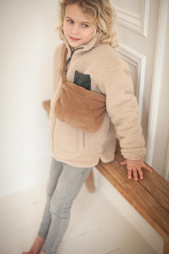 Caramel corduroy belt bag