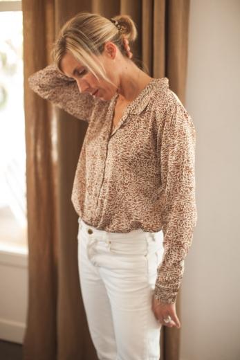 Macha women's camel shirt