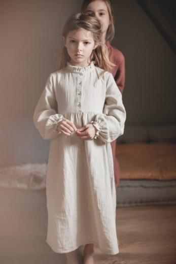 Robe de nuit Clochette gaze de coton argile