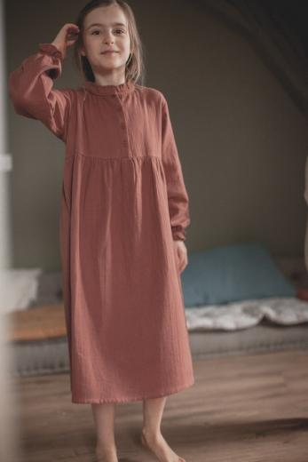 Robe de nuit Clochette gaze de coton tomette