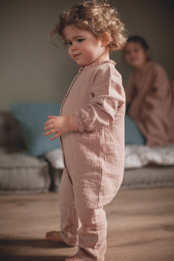 Pyjama Myrtille pink cotton gauze