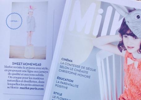 Marlot dans le Milk !! Numéro spécial mode de mars...