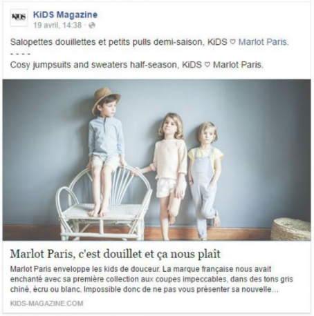 Merci au kids magazine pour ce bel article